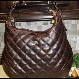 BURRBERRY Brown Leather Handbag